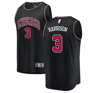 Fanatics Branded Chicago Bulls Swingman Black Shaquille Harrison Fast Break Jersey - Statement Edition - Men's
