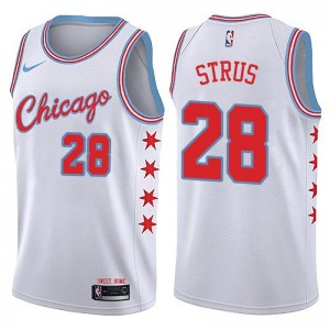 Nike Chicago Bulls Swingman White Max Strus Jersey - City Edition - Youth
